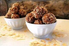 Almond-Chocolate-Banana Bliss Bites | GF & Vegan | Lindsey Pine MS, RDN, CSSD, CLT | Tastybalancenutrition.com