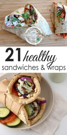 Sandwiches are the easiest lunch, but they can get boring too easily. These healthy sandwiches and healthy wraps will put some spice in your lunch! #FitFluential #healthyliving #lunch #sandwiches