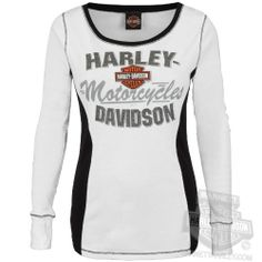 Harley-Davidson Womens Iron Armor BS White Long Sleeve T-Shirt Harley-Davidson… Womens Motorcycle Fashion, Motorcycle Style, Motorcycle Outfit, Biker Style, Motorcycle Clothes, Harley Gear, Harley Shirts, Harley Boots, Harley Davidson Womens Clothing