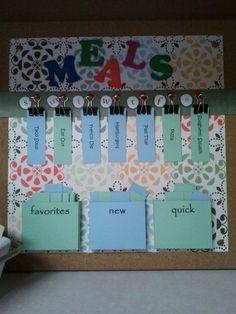 weekly menu board by Kim Paige