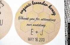 100 Honey Jar Labels - Personalized Honey Wedding Favors / Stickers / Honeycomb Wedding Favors