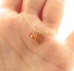 Tiny Lotus Necklace Lotus Flower Charm Tiny by BijouxbyMeg on Etsy, $30.00