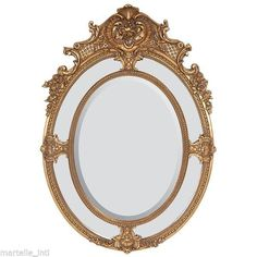 Vanity Mirror Oval Gold