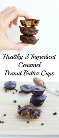 These Healthy 3 Ingredient Caramel Peanut Butter Cups are quick and easy to…