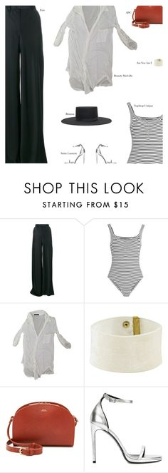 """""""Untitled #2980"""" by amberelb ❤ liked on Polyvore featuring Etro, Topshop Unique, Brandy Melville, A.P.C. and Yves Saint Laurent"""
