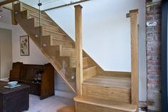 5 Cut string and glass balustrade oak staircase in a refurbish project Space Saving Staircase, Basement Staircase, Grand Staircase, Staircase Design, Staircase Ideas, Stair Design, Small Basement Bars, Small Basement Design, Modern Basement