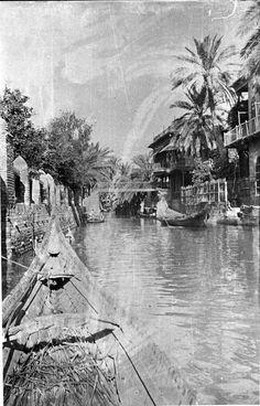 Basrah, Al (Basra), 'Ashar Creek, Spring 1916, Gertrude Bell Archive, Newcastle University