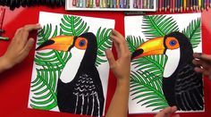 Learn how to draw a realistic toucan with us! This art project is meant for kids, but parents and adults can follow along too :)