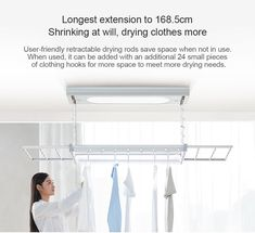 Smart Clothes Dryer from Xiaomi Youpin- White Long Extensions, Clothes Dryer, Smart Outfit, Piece Of Clothing, Laundry Room, Bathtub, Standing Bath, Dryer