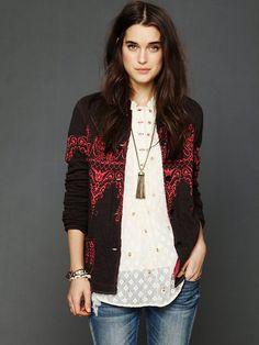 Free People Pattern Sweater Jacket, ₪662.31