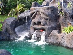 Tiki Pool - this and the Skull Pool are the perfect water feature in a lagoon style pool.