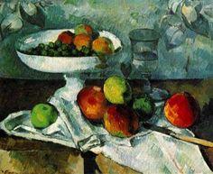 Compotier - Paul Cezanne - Tableaux et dessins