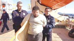 Greek coast guard confronts Turkish smuggler with dead migrant bodies
