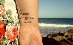 Tatuajes que te demostrarán que las frases en español también se ven bien