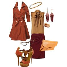 Fall Office Wear, created by owlsofmarie on Polyvore