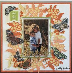 Anna Griffin butterfly die cuts and Cricut Design Space. Created by Sally Fisher.