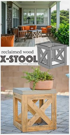 54 New Ideas Front Patio Diy Outdoor Furniture Diy Garden Furniture, Diy Outdoor Furniture, Furniture Projects, Furniture Makeover, Outdoor Decor, Patio Makeover, Pallet Furniture, Antique Furniture, Furniture Layout