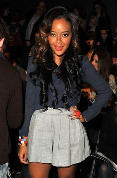Angela Simmons TV personality Angela Simmons attends the Whitney Eve Fall 2012 fashion show during Mercedes-Benz Fashion Week at The Studio at Lincoln Center on February 15, 2012 in New York City.