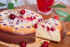 Photo about Cherry pie on the desk. Poke Cakes, Lava Cakes, Fudge Cake, Brownie Cake, Baking Recipes, Dessert Recipes, Custard Cake, Gingerbread Cake, Sweet Pie