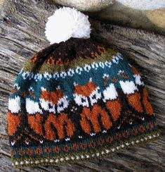 Christine73's Foxtrot | Knit Pattern | Hat | Colorwork | Color Work | Stranded