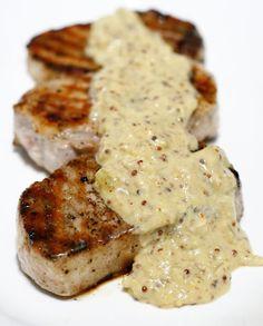 Muschi de porc cu sos de mustar Romanian Food, Romanian Recipes, Good Food, Yummy Food, Fruit Drinks, Lamb, Sausage, Easy Meals, Food And Drink