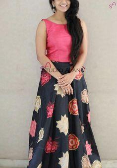 Vintage Saree Dress, Dress Skirt, Lehenga Blouse, Lehenga Choli, Maxi Outfits, Fashion Outfits, Kids Outfits, Long Skirt And Top, Churidar Designs
