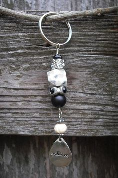 Beaded Key Chain with Charm. $8.00, via Etsy.
