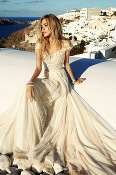 Featured Dress: Eva Lendel; Wedding dress idea.