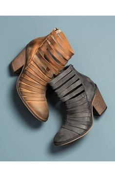 Free People 'Hybrid' Strappy Leather Bootie (Women) | Nordstrom yes grey!!