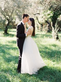 #a-line  Photography: Joseba Sandoval - www.romanceweddings.co.uk Wedding Dress: Rhea Acosta - www.rheacosta.com/ Grooms Attire: Hugo Boss - www.hugoboss.com