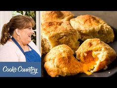 (1547) How Make Incredibly Cheesy North Carolina Cheese Biscuits - YouTube American Test Kitchen, Bistro Food, Cheese Biscuits, Cheese Fries, Meals For One, Bread Baking, Fried Chicken, Food Hacks, Food To Make