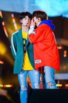 Jungkookie and Jin (bts comeback stage) Jimin, Bts Selca, Vlive Bts, Jungkook And Jin, Bts Bangtan Boy, Bts Boys, Seokjin, Hoseok, Namjoon