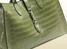 Gucci - jackie soft crocodile top handle bag love but $31,000 ouch!