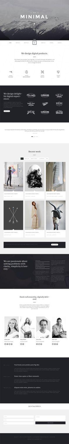 http://flatdsgn.com/inspiration/t-one-minimal-portfolio-theme.html