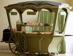 Hmm, a cart of Laduree treats