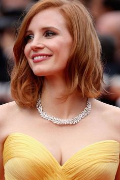 Inspiration coiffure carré Jessica Chastain