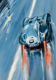 Indianapolis,Le Mans – Acryl auf Leinwand/Acrylic on canvas – Größe/size Indianapolis, Le Mans – Acrylic on canvas / Acrylic on canvas – Size / size 90 / – Price on request / Price upon request Le Mans, Car Art, Art Cars, Vintage Racing, Vintage Cars, Jaguar Type E, Mobile Art, Car Posters, Car Drawings