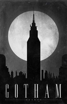 Batman / Gotham / City Series by Justin Van Genderen (http://www.flickr.com/photos/justinvg/sets/72157624341432442/) buy here: http://www.etsy.com/shop/JustinVG