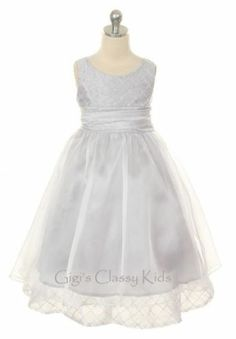 New Flower Girls Silver Fancy Dress Easter Christmas Size 2-12 Party KD291