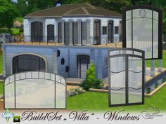 The Sims Resource: Build-A-Villa Windows and Doors by BuffSumm • Sims 4 Downloads