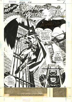 frank robbins art   Detective Comics # 421 p. 1. par Frank Robbins