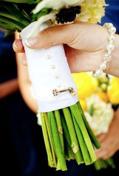sorority sugar: put sorority pin on wedding bouquet. perf