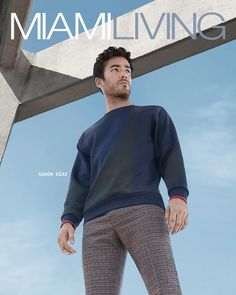 """MIAMI LIVING MAGAZINE'S October/November 2017 issue, featuring cover star, Latin actor-model-singer, Aarón Díaz, is now available.  interviews with Aarón, who you may recognize as the new face of Perry Ellis, from ABC's """"Quantico"""" and telenovelas like """"Tierra de Reyes"""" and """"Los Miserables,"""""""