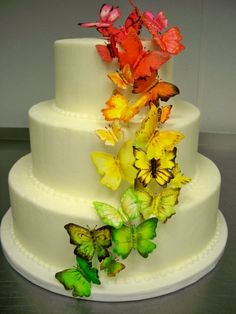 Butterfly wedding cake by Croissants Bistro & Bakery