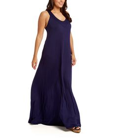 Look at this #zulilyfind! Navy V-Neck Maxi Dress - Plus by GLAM #zulilyfinds