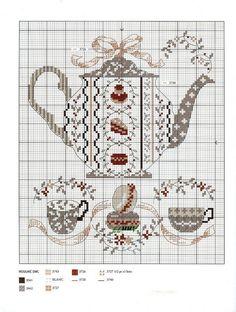 teapot cross stitch cart: teapot cross stitch cart