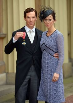Pin for Later: In Long-Sleeved Lace and Tights, Benedict Cumberbatch's Wife Just Wore the Perfect Fall Look