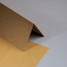 Metallics gebürstet Karten DIN lang hochdoppelt Cognac