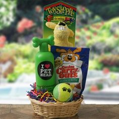 Crazy for Canines Dog Gift Basket  For the Best Gifts for dogs lovers Check out CanineStyles.com  christmas wishlist dog dogs doglovers Easy