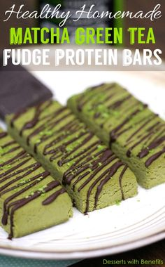 Homemade Matcha Green Tea Fudge Protein Bars - Healthy Dessert Recipes a Healthy Homemade Matcha Green Tea Fudge Protein Bars - Healthy Dessert Recipes a. Healthy Homemade Matcha Green Tea Fudge Protein Bars - Healthy Dessert Recipes a. Healthy Protein Bars, Protein Bar Recipes, Healthy Dessert Recipes, Healthy Baking, Healthy Desserts, Healthy Fats, High Protein, Homemade Protein Bars, Protein Cake